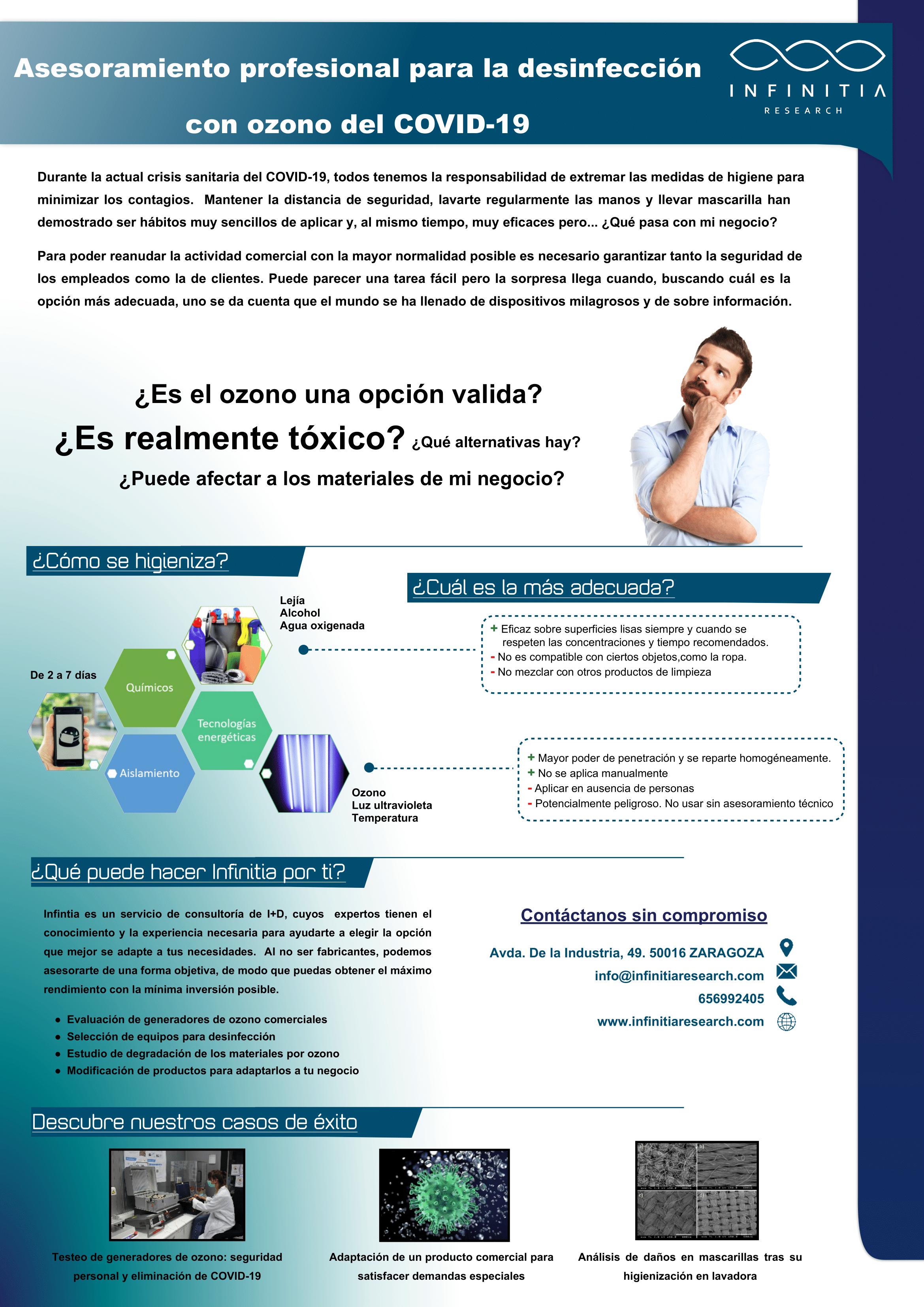 Covid 19 Infinitia 1 Asesoramiento profesional para la desinfección con ozono del COVID-19